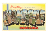 Greetings from Evansville, Indiana Prints