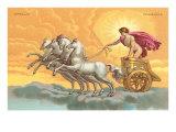Apollo with Chariot Plakaty