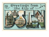 Greetings from Boston, Massachusetts Posters
