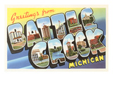 Greetings from Battle Creek, Michigan Posters