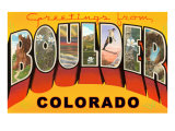 Greetings from Boulder, Colorado Print