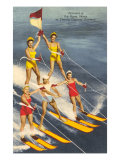 Pyramid of Water Skiers, Cypress Gardens, Florida Poster