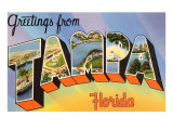 Greetings from Tampa, Florida Print