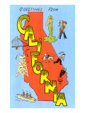 Greetings from California Print