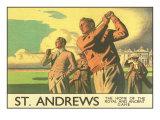 St. Andrews Golfplatz, Englisch Kunstdruck