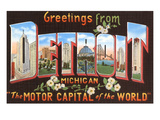 Greetings from Detroit, Michigan Print