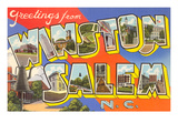 Greetings from Winston-Salem, North Carolina Print