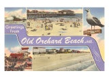 Greetings from Old Orchard Beach, Maine Art