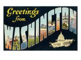 Greetings from Washington, D.C. Prints