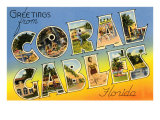 Greetings from Coral Gables, Florida Prints
