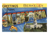 Greetings from Berkeley, California Prints