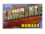 Greetings from Lawrence, Kansas Poster