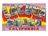 Greetings from Laguna Beach, California Poster