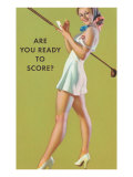 Are You Ready to Score Póster