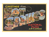 Grüße aus Hot Springs, Arkansas Kunstdrucke