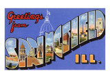 Greetings from Springfield, Illinois Posters