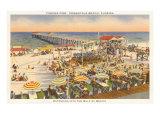 Pier, Beach, Pensacola. Florida Poster