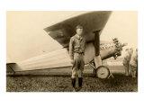 Charles Lindbergh et avion Posters