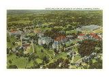 Aerial View, University of Kansas, Lawrence, Kansas Poster
