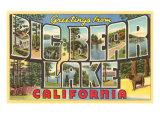 Greetings from Big Bear Lake, California Posters