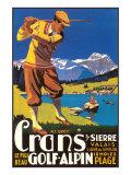 Alpine Golf Poster