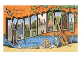 Greetings from Kalamazoo, Michigan Posters