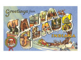 Greetings from Santa Claus, Indiana Prints