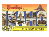 Greetings from Idaho, the Gem State Posters