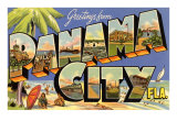 Greetings from Panama City, Florida Posters