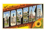 Greetings from Topeka. Kansas Posters