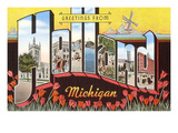 Greetings from Holland, Michigan Posters