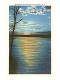 Moonlight on Lake Hickory, North Carolina Posters