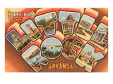 Greetings from Little Rock, Arkansas Prints