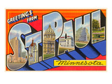 Greetings from St. Paul, Minnesota Prints