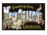 Greetings from New Orleans, Louisiana Prints