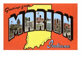 Greetings from Marion, Indiana Prints