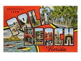 Greetings from Palm Beach, Florida Posters