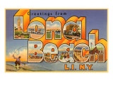 Greetings from Long Beach Long Island, New York Posters