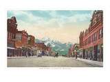 Main Street, Livingston, Montana Giclee Print