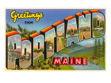 Greetings from Portland, Maine Prints