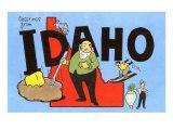 Greetings from Idaho, Cartoon Print