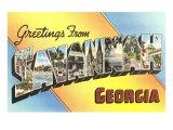 Greetings from Savannah, Georgia Print
