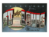 Greetings from St. Louis, Missouri Print