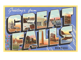 Greetings from Great Falls,Montana Art