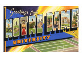 Greetings from Notre Dame, South Bend, Indiana Prints
