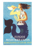 1955 Mediterranean Games Prints