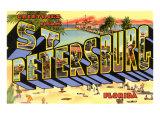 Greetings from St. Petersburg, Florida Prints