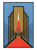 Geometric Art Deco Póster