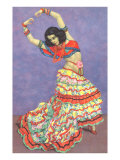 Flamenco Dancer Prints