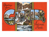 Greetings from Glacier Park, Montana Prints